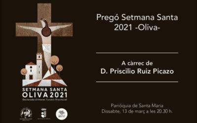 13 de Marzo – Pregón Semana Santa 2021 Oliva en la Parroquia de Santa María La Major